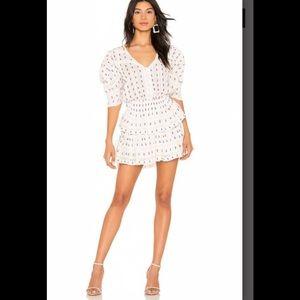 LoveShackFancy Marissa floral mini dress M NWT